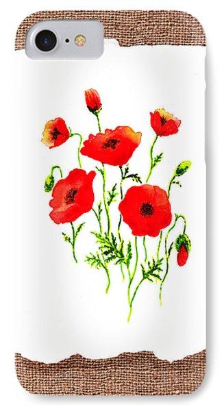 Red Poppies Decorative Collage Phone Case by Irina Sztukowski