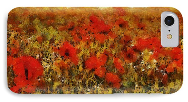 IPhone Case featuring the painting Red Poppies by Georgi Dimitrov