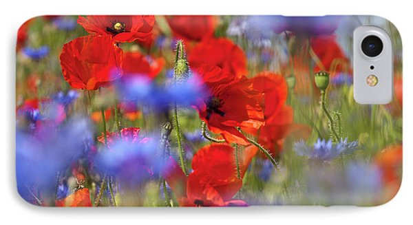 Red Poppies In The Maedow Phone Case by Heiko Koehrer-Wagner