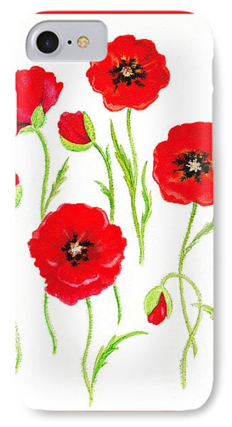 Red Poppies IPhone 7 Case