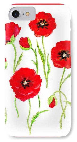 Red Poppies Phone Case by Irina Sztukowski