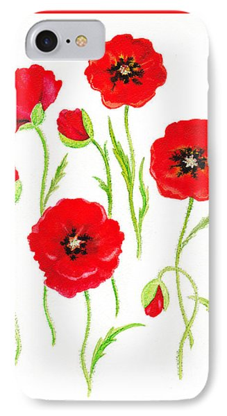 Red Poppies IPhone Case by Irina Sztukowski