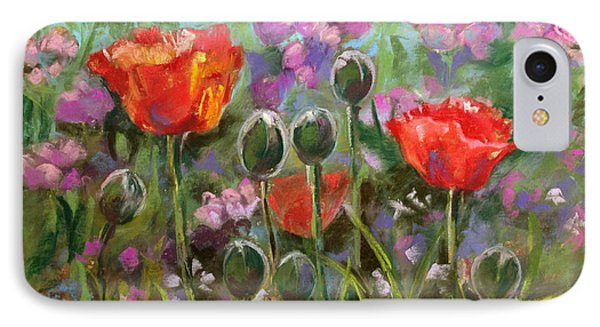 Red Poppies IPhone Case by Julie Maas