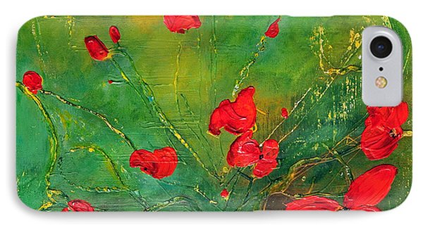 IPhone Case featuring the painting Red Poppies by Teresa Wegrzyn