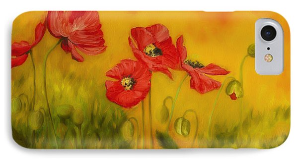 Red Poppies IPhone Case by Veikko Suikkanen
