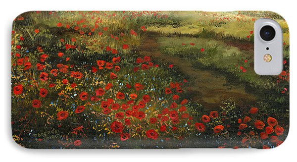 Red Poppy Field Phone Case by Cecilia Brendel