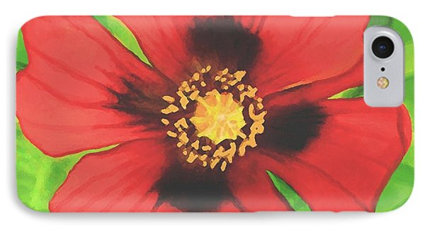 IPhone Case featuring the painting Red Poppy by Sophia Schmierer