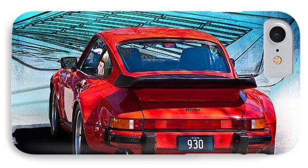 Red Porsche 930 Turbo Phone Case by Stuart Row