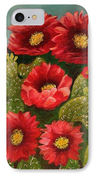 Red Prickley Pear Cactus Flower IPhone Case