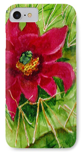 IPhone Case featuring the painting Red Prickly Pear by Eric Samuelson