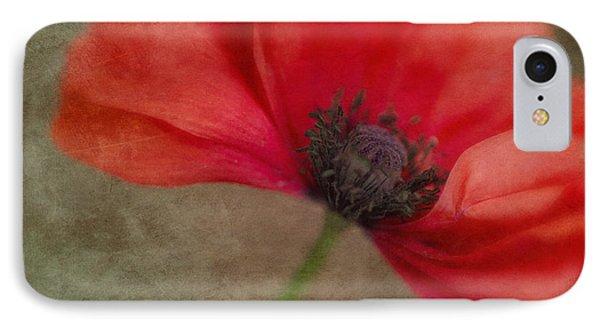 Red Poppy IPhone Case by Priska Wettstein