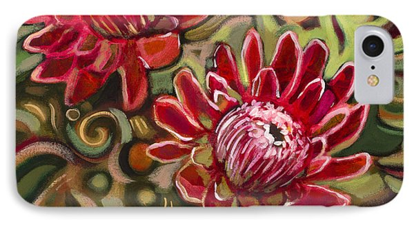 Red Proteas Phone Case by Jen Norton