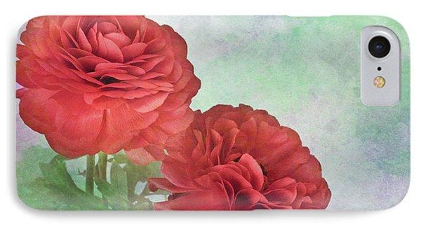 Red Ranunculus Phone Case by David and Carol Kelly