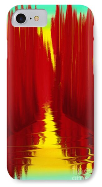 Red Reed River IPhone Case by Anita Lewis
