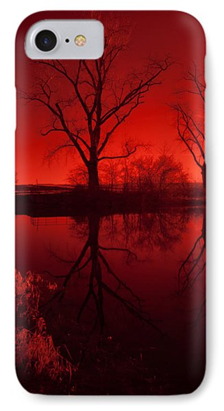 Red Reflections IPhone Case by Miguel Winterpacht