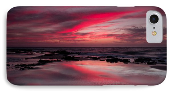 Red Reflections IPhone Case