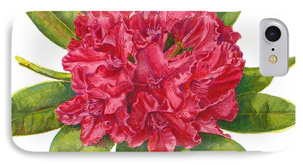Red Rhododendron  IPhone Case by Janet  Zeh