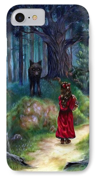 Red Riding Hood IPhone Case by Heather Calderon