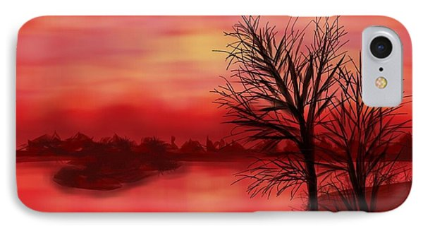 Red River IPhone Case by Judy Via-Wolff