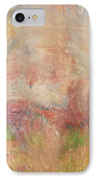 IPhone Case featuring the painting Red Road In Sunlight by John Fish
