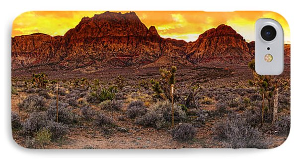 Red Rock Canyon Las Vegas Nevada Fenced Wonder Phone Case by Silvio Ligutti