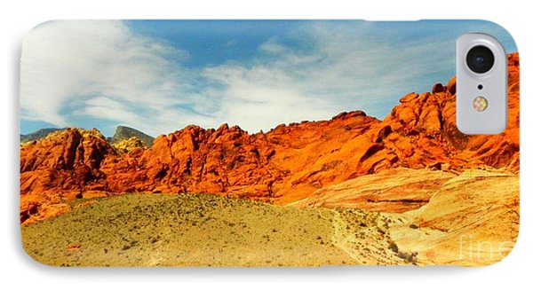 IPhone Case featuring the painting Red Rock Canyon - Las Vegas by Shelia Kempf