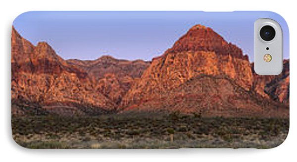 Red Rock Canyon Pano Phone Case by Jane Rix