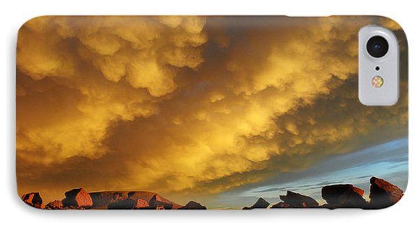 Red Rock Coulee Sunset IPhone Case by Vivian Christopher