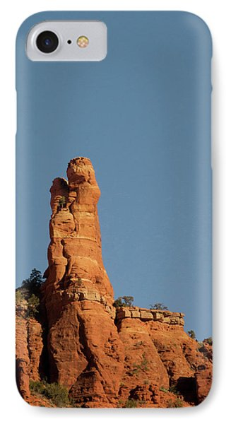 Red Rock Ledge With Rock Profile IPhone Case