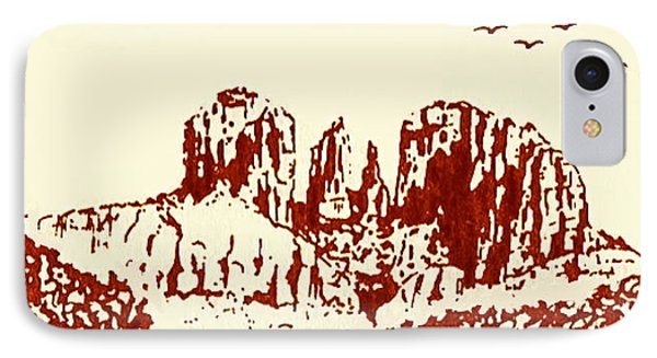 Red  Rock  Sedona IPhone Case by Hartmut Jager