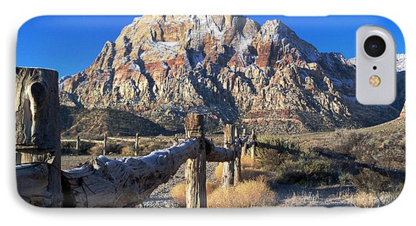 IPhone Case featuring the photograph Red Rock Snow by Alan Socolik