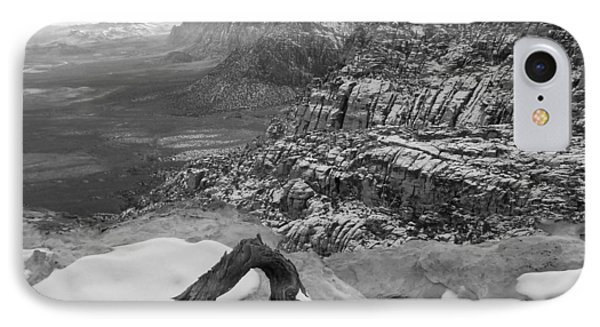 IPhone Case featuring the photograph Red Rock Winter by Alan Socolik
