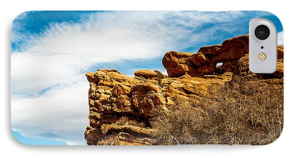 Red Rocks Dragon IPhone Case by Todd Soderstrom