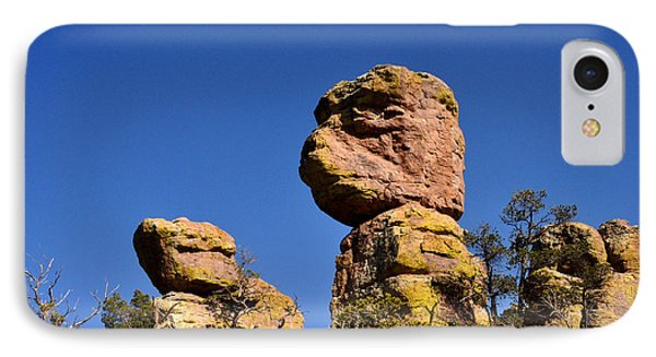 Red Rocks In The Chiracahua Mountains IPhone Case by Diane Lent