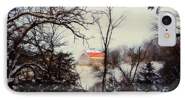 Red Roof Barn IPhone Case by Julie Hamilton