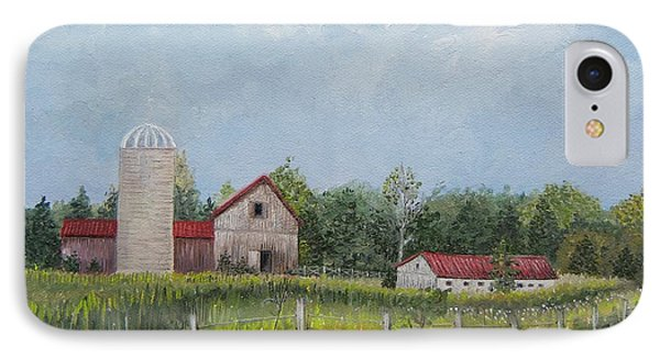 Red Roof Barns Phone Case by Reb Frost