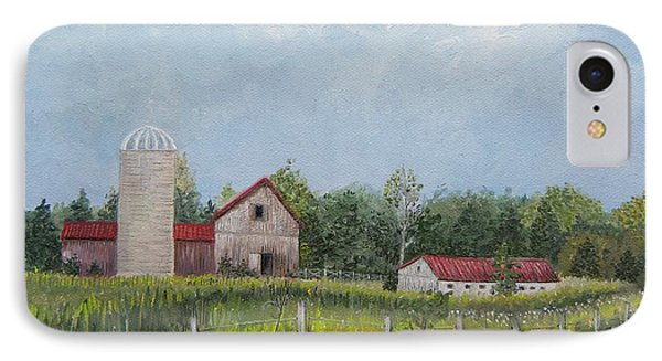 Red Roof Barns IPhone Case by Reb Frost