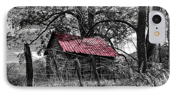 Red Roof IPhone Case by Debra and Dave Vanderlaan