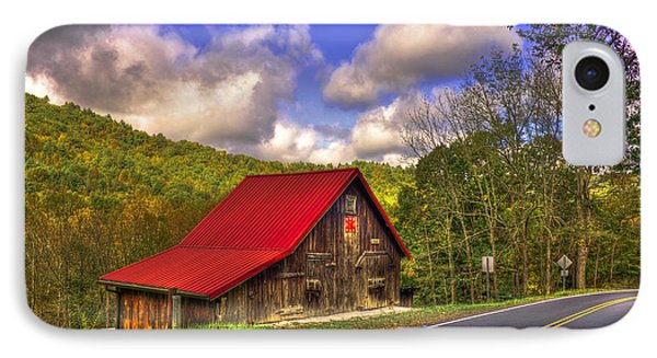 Red Roof In The Blue Ridge Mountains IPhone Case by Reid Callaway