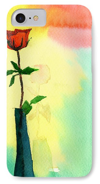 Red Rose 1 Phone Case by Anil Nene