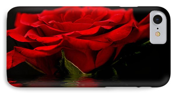 Red Rose Flood Phone Case by Steve Purnell