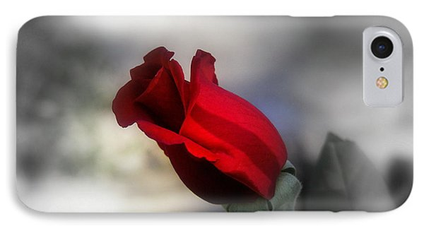 IPhone Case featuring the photograph Red Rose by Karen Kersey