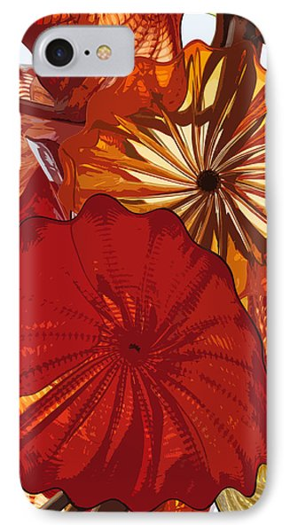 IPhone Case featuring the digital art Red Rose by Kirt Tisdale