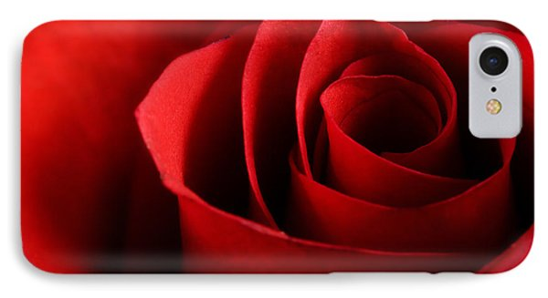 Red Rose Macro IPhone Case by Johan Swanepoel