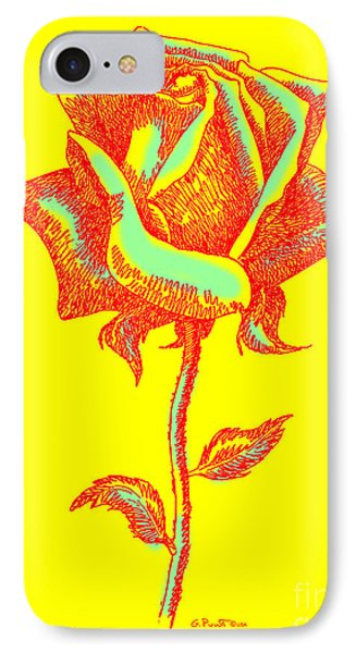 Red Rose Paintings 1 Phone Case by Gordon Punt
