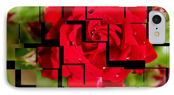 Red Rose Puzzle Phone Case by Julia Fine Art And Photography
