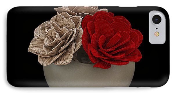 Red Rose Shimmer Phone Case by Rob Guiver