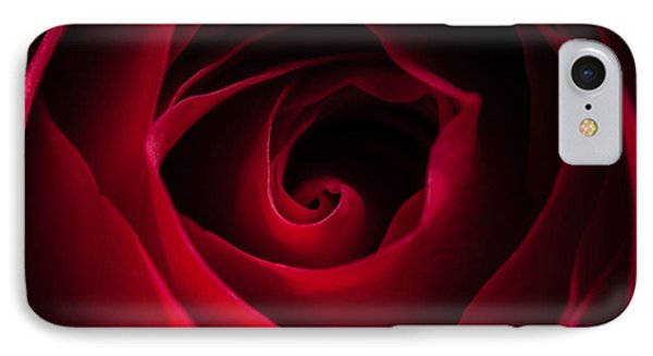 IPhone Case featuring the photograph Red Rose Square by Matt Malloy
