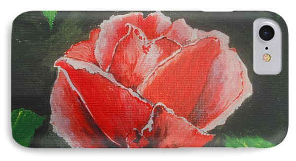 Red Rose Study IPhone Case by Kathy Spall