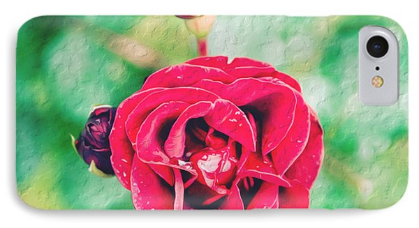 Red Rose IPhone Case by Yew Kwang